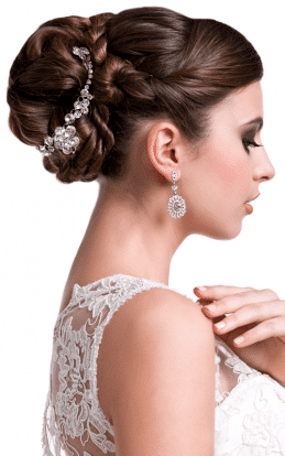 """alt=""""Brunette model showcasing a beautiful hair style and undo in the hairstyle gallery"""""""
