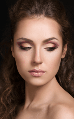 "alt=""Brunette model showcasing a make up style alt=""Brunette model showcasing a make up style in the hairstyle gallery"""""